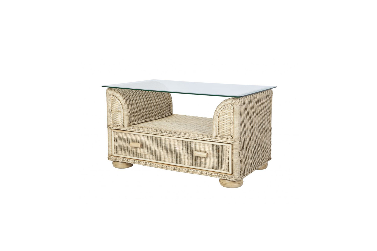 Brook wicker cane rattan conservatory furniture coffee table for Cane wicker furniture