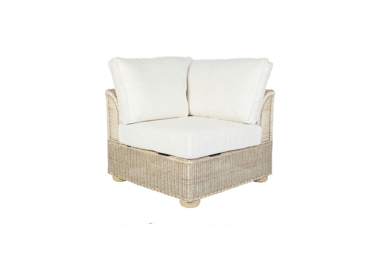 Brook wicker cane rattan conservatory furniture corner chair for Cane wicker furniture