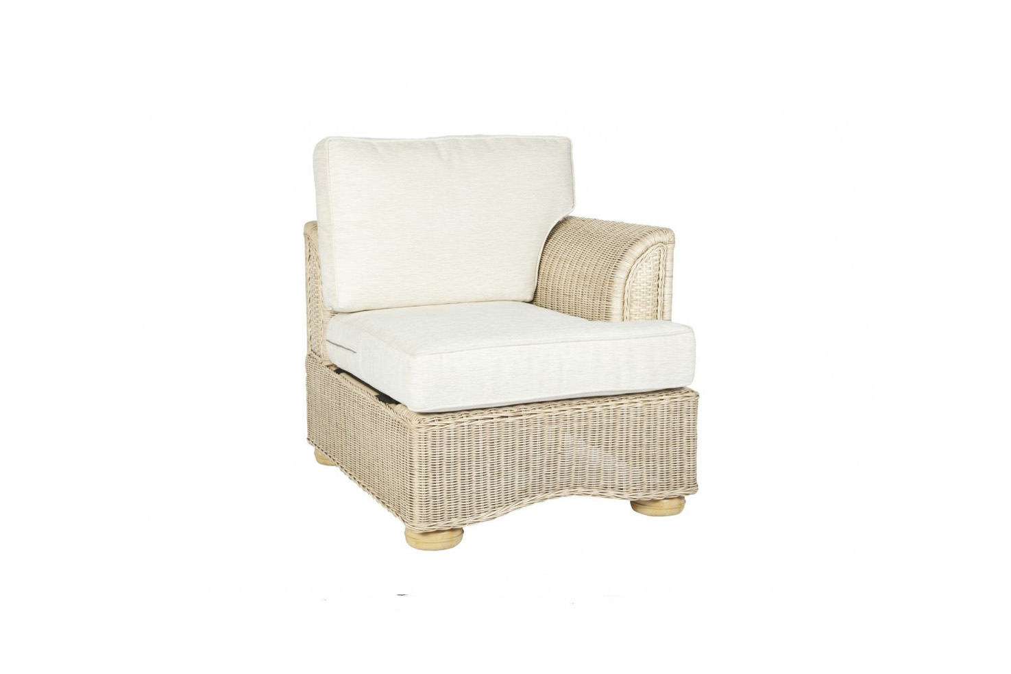 sc 1 st  2Furnish Home & Brook-wicker-cane-rattan-conservatory furniture end left arm chair
