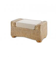Brook-wicker-cane-rattan-conservatory furniture footstool ottoman