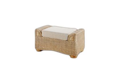 Brook-wicker-cane-rattan-conservatory furniture footstool ottoman
