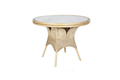 Brook-wicker-cane-rattan-conservatory round dining table