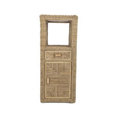 Pebble wicker-cane-rattan-conservatory cupboard unit