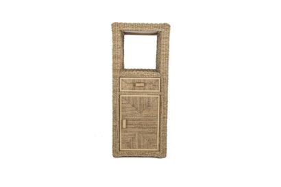 Pebble wicker-cane-rattan-conservatory cupboard unit