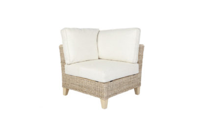 Pebble wicker cane rattan conservatory furniture corner chair