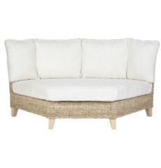 Pebble wicker-cane-rattan-conservatory furniture corner chair