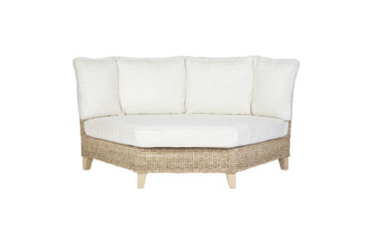 Pebble wicker-cane-rattan-conservatory furniture corner chair