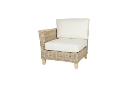 Pebble wicker cane rattan conservatory furniture end chair