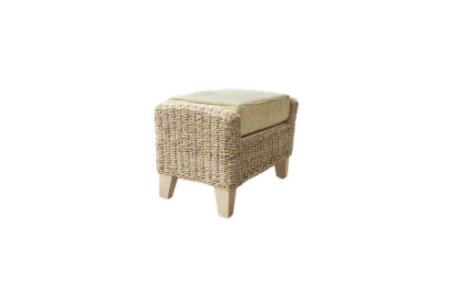 Pebble wicker cane rattan conservatory furniture footstool