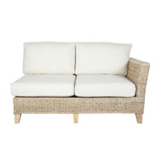 Pebble wicker-cane-rattan-conservatory furniture sofa left arm