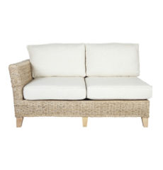 Pebble wicker-cane-rattan-conservatory furniture sofa right arm