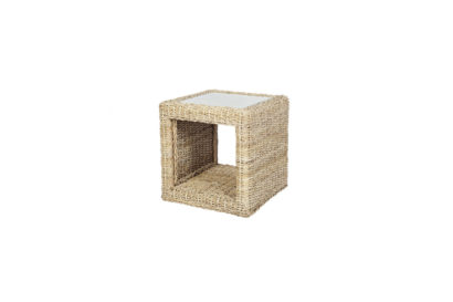 Pebble wicker cane rattan conservatory furniture square Side table