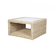 Pebble wicker cane rattan conservatory furniture square coffee table
