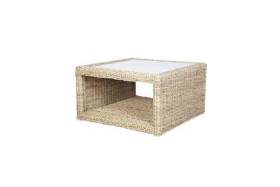 Pebble wicker cane rattan conservatory furniture square coffee table