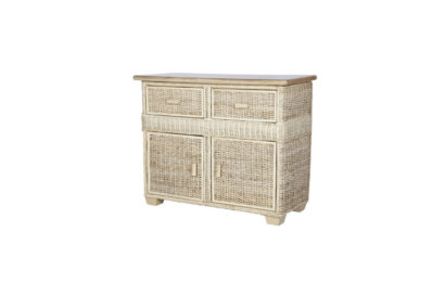 Pebble wicker-cane-rattan-conservatory storage unit