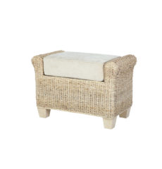 Rossby wicker cane rattan conservatory furniture footstool