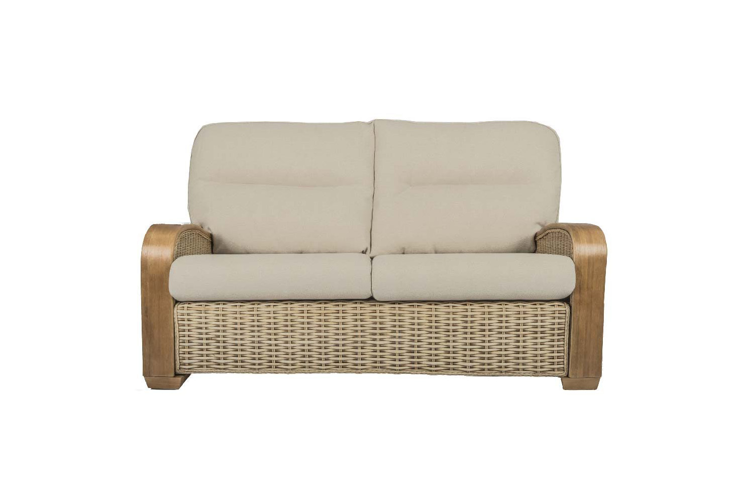 Surf Wicker Cane Rattan Conservatory Furniture Large Sofa