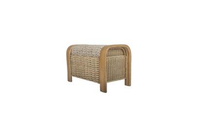 Surf-wicker-cane-rattan-conservatory furniture leg rest ottoman