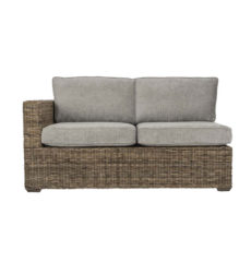 Terrain-wicker-cane-rattan-conservatory furniture right arm sofa