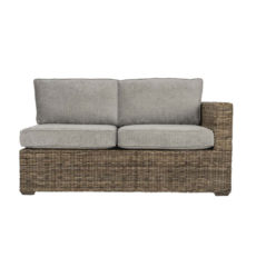 Terrain wicker cane rattan conservatory furniture left arm sofa