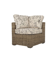 Terrain wicker cane rattan conservatory furniture left corner chair