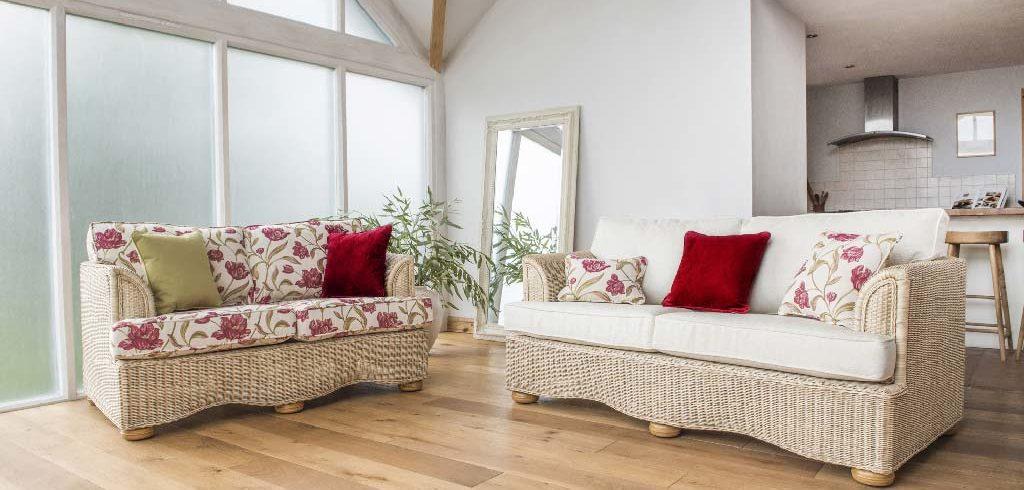 Brook natural rattan sofa set