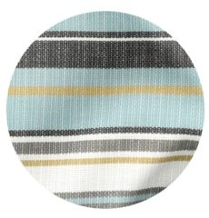 Teal outdoor striped fabric